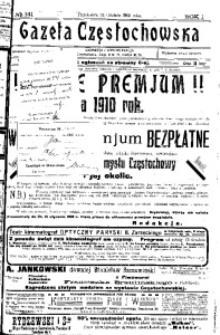 Gazeta Częstochowska, 1909, R. 1, No 141