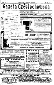 Gazeta Częstochowska, 1910, R. 2, No 10