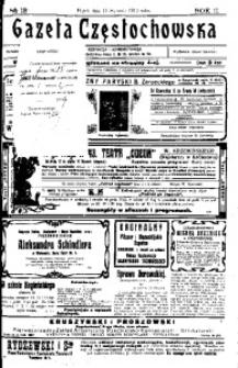 Gazeta Częstochowska, 1910, R. 2, No 13