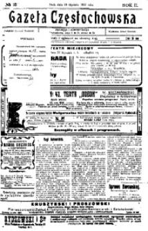 Gazeta Częstochowska, 1910, R. 2, No 18