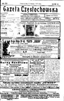 Gazeta Częstochowska, 1910, R. 2, No 26