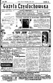 Gazeta Częstochowska, 1910, R. 2, No 28