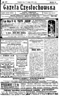Gazeta Częstochowska, 1910, R. 2, No 47