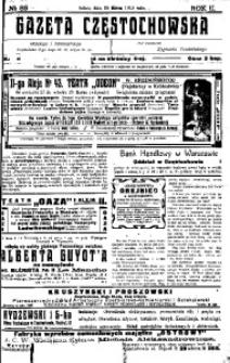 Gazeta Częstochowska, 1910, R. 2, No 83