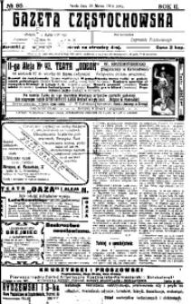 Gazeta Częstochowska, 1910, R. 2, No 85