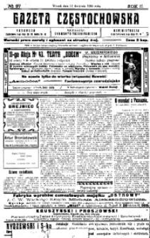 Gazeta Częstochowska, 1910, R. 2, No 97