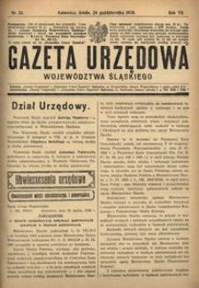 Gazeta Urzędowa Województwa Śląskiego, 1928, R. 7, nr 33
