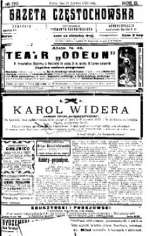 Gazeta Częstochowska, 1910, R. 2, No 170