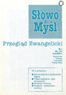 Słowo i Myśl. Przegląd Ewangelicki, 1994, Nr 5
