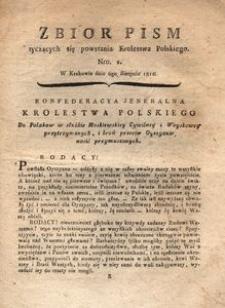 Zbiór pism tyczących się powstania Krolestwa Polskiego Nro. 2. W Krakowie dnia 6go Sierpnia 1812