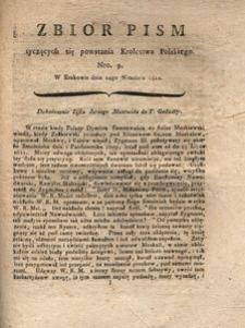 Zbiór pism tyczących się powstania Krolestwa Polskiego Nro. 9. W Krakowie dnia 24go Września 1812