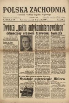 Polska Zachodnia, 1939, R. 14, nr 233