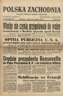Polska Zachodnia, 1939, R. 14, nr 235