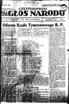 Głos Narodu, 1945, R. 1, Nr. 1