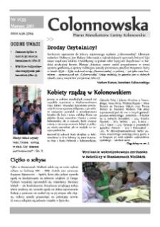 Colonnowska : pismo mieszkańców Gminy Kolonowskie 2011, nr 1 (135).