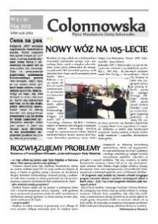 Colonnowska : pismo mieszkańców Gminy Kolonowskie 2012, nr 5 (151).