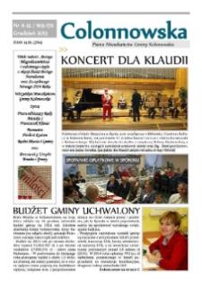 Colonnowska : pismo mieszkańców Gminy Kolonowskie 2013, nr 11-12 (169-170).