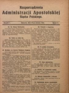 Rozporządzenia Administracji Śląska Polskiego, 1923, R. 1, nr 4