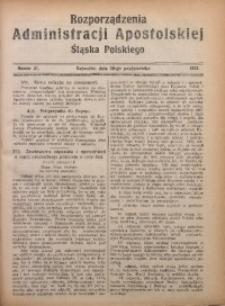 Rozporządzenia Administracji Śląska Polskiego, 1924, R. 1, nr 21