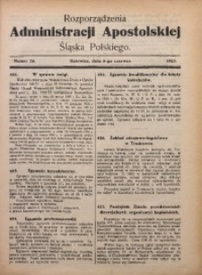 Rozporządzenia Administracji Śląska Polskiego, 1925, R. 1, nr 26