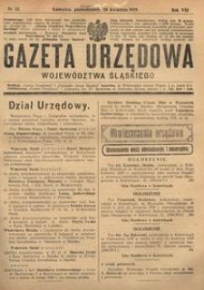 Gazeta Urzędowa Województwa Śląskiego, 1929, R. 8, nr 13