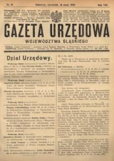 Gazeta Urzędowa Województwa Śląskiego, 1929, R. 8, nr 15