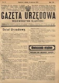 Gazeta Urzędowa Województwa Śląskiego, 1929, R. 8, nr 17