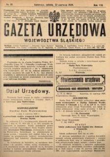 Gazeta Urzędowa Województwa Śląskiego, 1929, R. 8, nr 19
