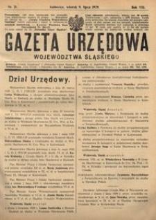 Gazeta Urzędowa Województwa Śląskiego, 1929, R. 8, nr 21