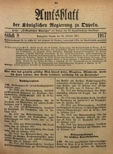 Amtsblatt der Königlichen Regierung zu Oppeln, 1917, Bd. 102, St. 8
