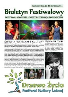 Biuletyn festiwalowy : wystawy, koncerty, odczyt, edukacja ekologiczna.