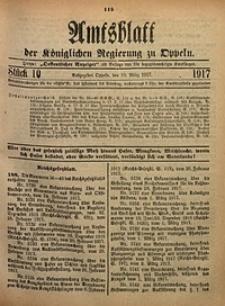 Amtsblatt der Königlichen Regierung zu Oppeln, 1917, Bd. 102, St. 10