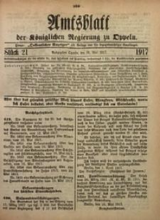 Amtsblatt der Königlichen Regierung zu Oppeln, 1917, Bd. 102, St. 21