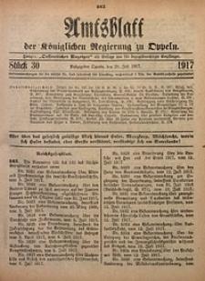 Amtsblatt der Königlichen Regierung zu Oppeln, 1917, Bd. 102, St. 30
