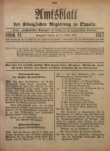 Amtsblatt der Königlichen Regierung zu Oppeln, 1917, Bd. 102, St. 41