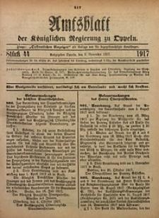 Amtsblatt der Königlichen Regierung zu Oppeln, 1917, Bd. 102, St. 44
