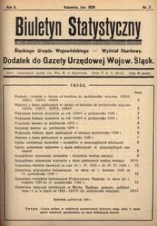 Biuletyn Statystyczny Śląskiego Urzędu Wojewódzkiego, 1929, R. 2, nr 2