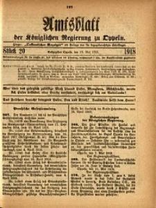 Amtsblatt der Königlichen Regierung zu Oppeln, 1918, Bd. 103, St. 20