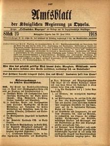 Amtsblatt der Königlichen Regierung zu Oppeln, 1918, Bd. 103, St. 25