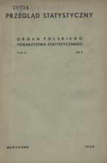 Przegląd Statystyczny, 1939, T. 2, nr 2