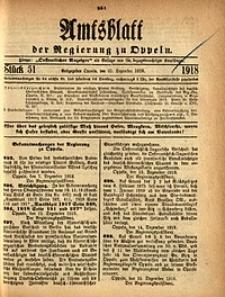 Amtsblatt der Regierung zu Oppeln, 1918, Bd. 103, St. 51