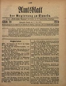 Amtsblatt der Regierung zu Oppeln, 1919, Bd. 104, St. 20