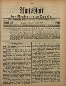 Amtsblatt der Regierung zu Oppeln, 1919, Bd. 104, St. 28