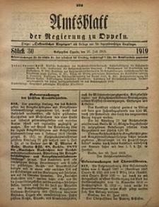 Amtsblatt der Regierung zu Oppeln, 1919, Bd. 104, St. 30