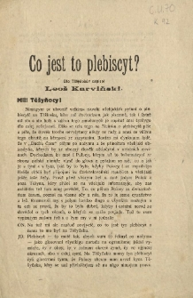 Co jest to plebiscyt?