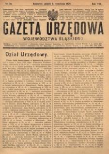 Gazeta Urzędowa Województwa Śląskiego, 1929, R. 8, nr 28