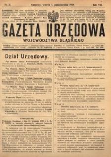 Gazeta Urzędowa Województwa Śląskiego, 1929, R. 8, nr 31