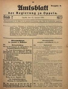 Amtsblatt der Regierung zu Oppeln, 1923, Bd. 108, St. 2