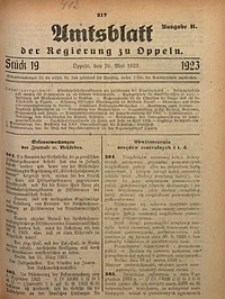 Amtsblatt der Regierung zu Oppeln, 1923, Bd. 108, St. 19