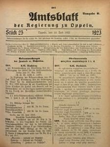 Amtsblatt der Regierung zu Oppeln, 1923, Bd. 108, St. 25